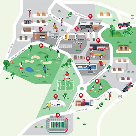 Busch Campus Map